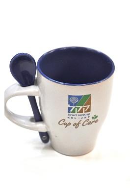 souvenirs main - כוס מאג ממותגת עם כפית