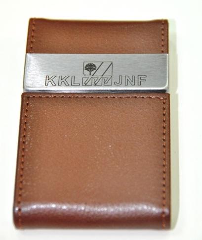 souvenirs main - נרתיק עור לכרטיסי ביקור